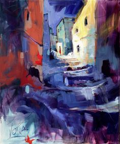 Small Street, 100X120CM/47,2X39,4 INCH, ACRYLIC ON CANVAS