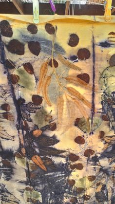 Cotton, iron, eucalyptus and a few apricot leaves! By Cherie Livni
