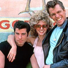 John Travolta, Olivia Newton-John and Jeff Conaway in 'Grease' (1978)