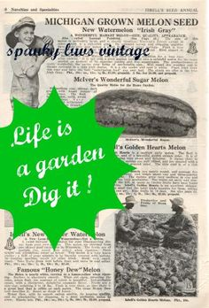 Life Is A Garden Dig it Digital Photo Collage print