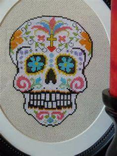 sugar skull designs in cross stitch - Yahoo Image Search Results