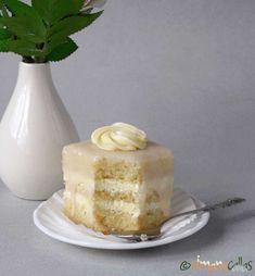 Amandine albe de cofetarie Vanilla Cake, Fondant, Meal Planning, Panna Cotta, Dips, Deserts, Sweets, Candy, Ethnic Recipes
