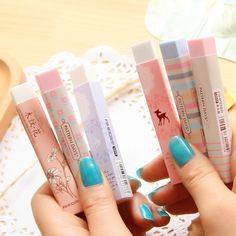 1Pc Stationery Supplies Kawaii Cartoon Pencil Erasers For Office School Kids Prize Writing Drawing Wholesale