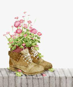 flower shoes by xuanlocxuan on DeviantArt Illustration Design Graphique, Illustration Noel, Pattern Illustrations, Cats Wallpaper, Art Watercolor, Flower Shoes, Deviantart, Cute Art, Art Girl