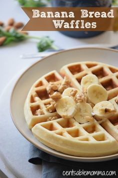 Start your morning out right with these Banana Bread Waffles for breakfast. You can make them ahead and refrigerate them or freeze them so you can pull them out for an easy breakfast in the morning. Great for Back-to-School!