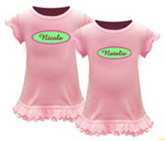 Twin Dresses - Set of 2 Personalized Dresses for Twin Girls by CountlessMiracles73 on Etsy