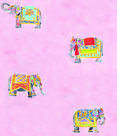 Elephants pink. Caitlin McGauley wallpaper