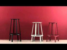 Revolver Swivel bar stool - H 65 cm - Metal Black by Hay