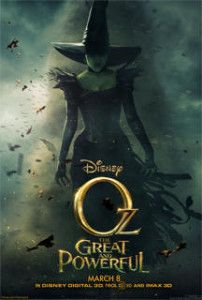 Oz The Great and Powerful , starring James Franco, Michelle Williams, Rachel Weisz, Mila Kunis. A small-time magician is swept away to an enchanted land and is forced into a power struggle between three witches. Walt Disney, Disney Magic, Disney Movies 2013, Oz Movie, Movie Film, Image Internet, Bon Film, I Love Cinema, Wicked Witch