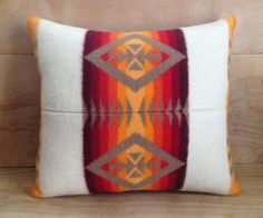 Pendleton Wool Pillow, Chief Joseph Blanket  by RobinCottage on Etsy, $52.00