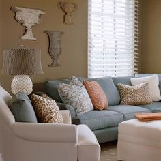Love the color pallet here! Always looking for new combinations of natural colors to pair together for color scheme ideas. This is relaxing, how a home should feel.