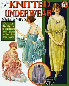 Leach's 6D 15 c 1920 Vintage Knit & Crochet Underwear by ivarose, $12.95