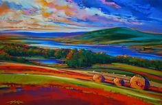 Landscape Paintings and photographs : Down to the lake -Michael Mckee