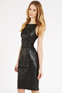 I want a leather dress