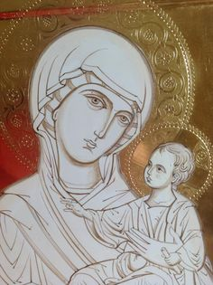 Religious Pictures, Religious Icons, Religious Art, Byzantine Icons, Byzantine Art, Christian Drawings, Mary And Jesus, Madonna And Child, Catholic Art