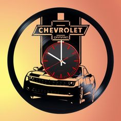 Chevrolet Handmade Vinyl Record Wall Clock Fan Gift - VINYL CLOCKS