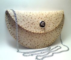 Beige Leather Purse - just the right melding of cute and sophisticated to say grown-up but not old