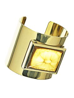 let the sunshine in - golden cuff bracelet - H