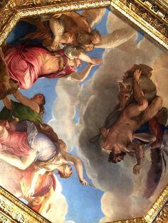 Inside the Doge's Palace, Venice, Italy.