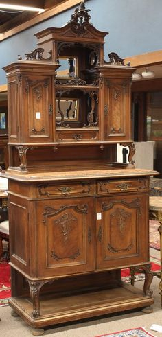 2364: French buffet a deux corps : Lot 2364