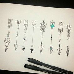 Lush arrow tattoo designs