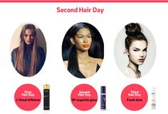 Second hair day- Greasy Hair  A unique hair product for every day after your bath! www.hairwaybeauty.com