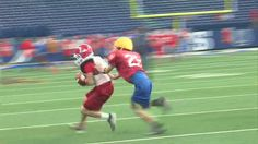 The Linton football team practiced Wednesday at Lucas Oil Stadium in preparation for their 1A state finals game against Lafayette Central Catholic. The Miners got one hour on the field that is home...