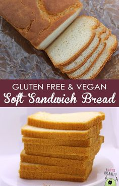 The BEST Gluten Free Soft Sandwich Bread Recipe that's also VEGAN! Gluten free and vegan doesn't have to be rubbery and tasteless. I'll be baking some this weekend! -Vegan Mariposa