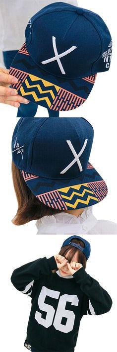 Fabulous 2016 New Hip-Pop Letter X Flat Hat Baseball Cap Hip-Hop Peaked Cap $3.45