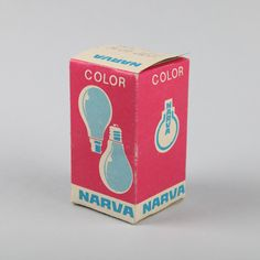 Narva Another example of a box from the East. Retro Packaging, Vacuum Packaging, Brand Packaging, Packaging Design, Design System, Box Design, Draplin Design, Retro Light Bulbs, Retro Graphic Design