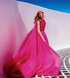 Mica Arganaraz, Rianne van Rompaey by Mario Testino for Vogue Paris (November 2015)