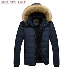 XiaoTianXinMen XTX Men Hooded Faux Fur Quilted Warm Camo Print Long Down Jacket Black M