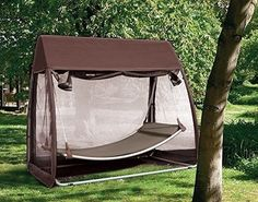 Patio-Hammock-Mosquito-Outdoor-Canopy-Cover-Hanging-Swing-Garden-Deck-NEW-BRAND