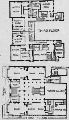 This massive mega mansion on 65th street fifth avenue was the New York City mansion of Caroline Astor and her son John, the richest m...