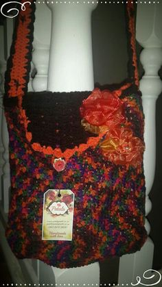 Beautiful autumn colour crochet lined handbag Autumn Crochet, Crochet Handbags, Goodies, Handmade, Beautiful, Color, Crochet Purses, Sweet Like Candy, Crochet Bags