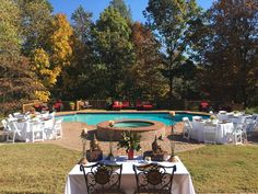 Pool View for Rehearsal Dinner