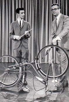 Frank Zappa, Playing a bicycle on the Steve Allen Show. 1963
