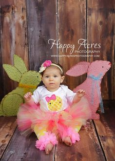 SWEET EASTER tutu with shabby chic by alliballiboutique on Etsy, $34.95