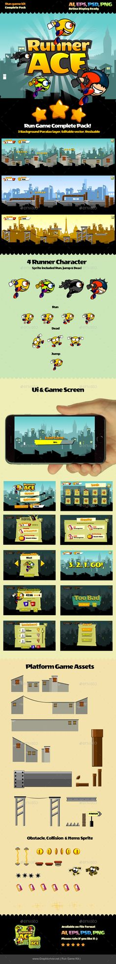 Run Game Kit - Game Kits #Game #Assets | Download http://graphicriver.net/item/run-game-kit/10378499?ref=sinzo