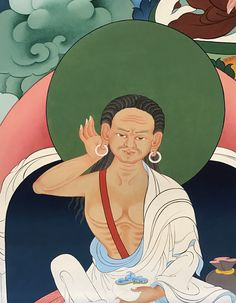 Milarepa (Tib. རྗེ་བཙུན་མི་ལ་རས་པ ) (1040-1123) is considered to be the founder of the Kagyü school of Tibetan Buddhism. His life story is one of the most popular and enduring narratives in Tibetan culture.  #ColoringForMeditation #TibetanArt #TibetanColoring #Thangka #BuddhistArt #BuddhistColoring