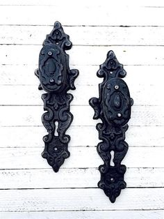 Ornate Cast Iron Door Handle KnobDrawer Pull Home by TheIronNook