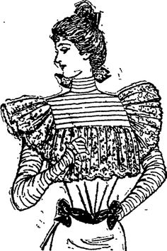A BLOUSE OF 'PERVENCHE' SILK. (Auckland Star, 11 March 1899)