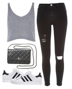 """""""Me Too"""" by nazancc ❤ liked on Polyvore featuring River Island, Chanel and adidas"""