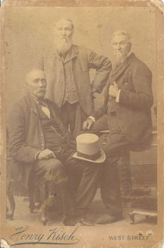 Marthinus Wessel, Andries Wilhelmus Jacobus and Christiaan Pieter Pretorius, the three sons of Andries Pretorius