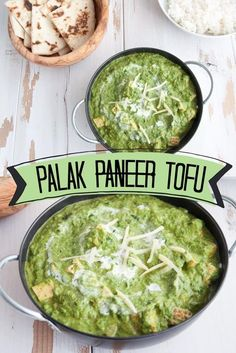 This recipe is a vegan version of the indian spinach curry, Palak Paneer, that uses Tofu instead of Paneer: Palak Tofu. Rich, creamy and delicious.