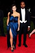 Kim Kardashian and Kanye West were both dressed by Lanvin