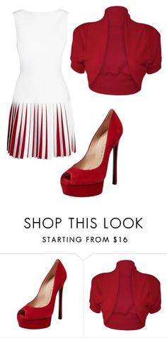"""""""white and red"""" by lacy-vonbuskirk on Polyvore featuring Alaïa, Casadei and WearAll"""