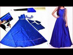 Frock Patterns, Kids Dress Patterns, Gown Pattern, Blouse Designs Silk, Dress Neck Designs, Designs For Dresses, Girls Dresses Sewing, Stitching Dresses, Kurta Neck Design