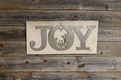 Joy with Nativity – Rustic Metal Letters & Wall Art Metal Wall Letters, Rustic Letters, Letter Wall Art, Making Out, Nativity, Christmas Decorations, Joy, Steel, Home Decor
