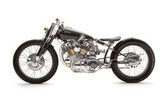 Falcon Motorcycle - The Black: Designed and engineered around the engine of a 1952 Vincent Black Shadow